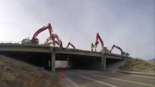 Utah bridge demolition time lapse