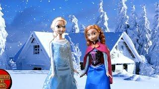 Видео для девочек, Страшная история Эльза и Анна, Ведьма Виктория крадет Эльзу, Играем в куклы