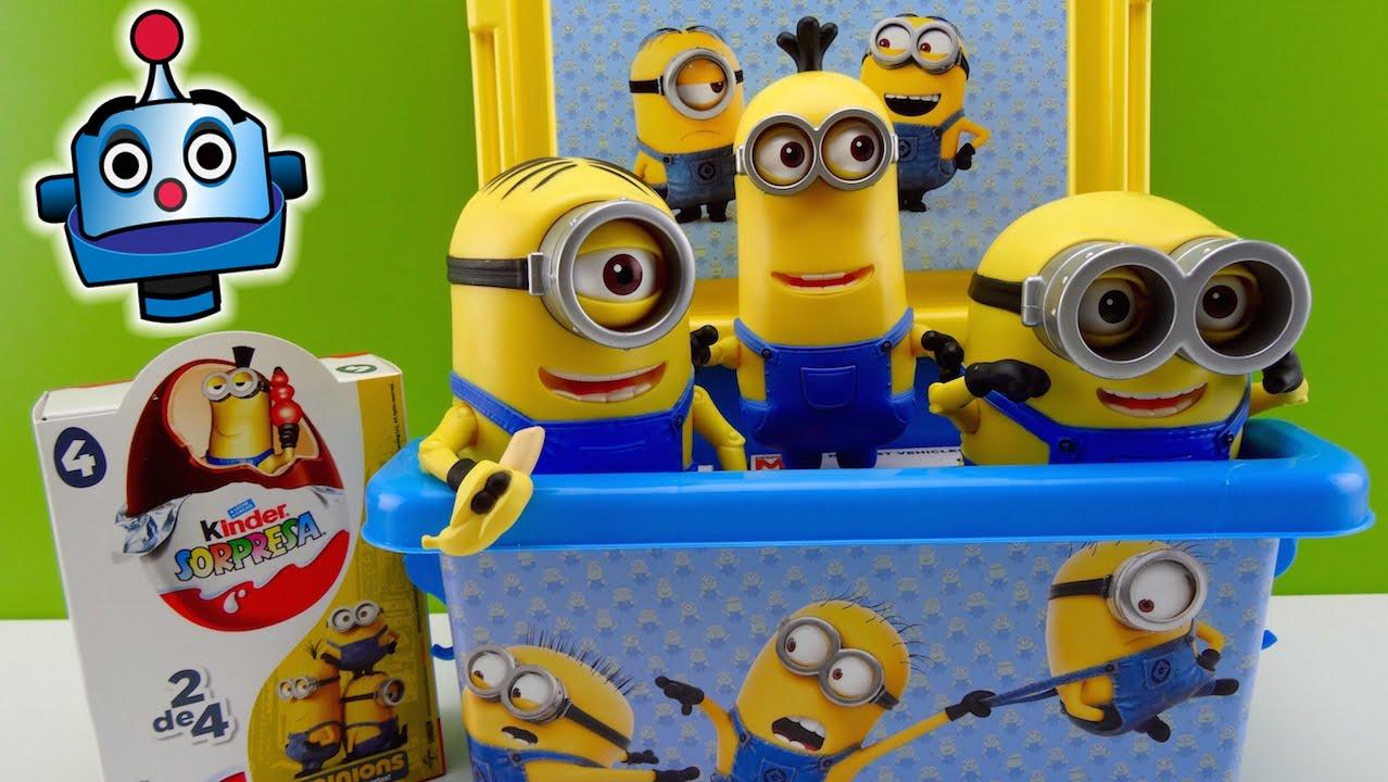 Minions Caja con Juguetes y Huevos Sorpresa Minions Surprise Box - Juguetes de Los Minions