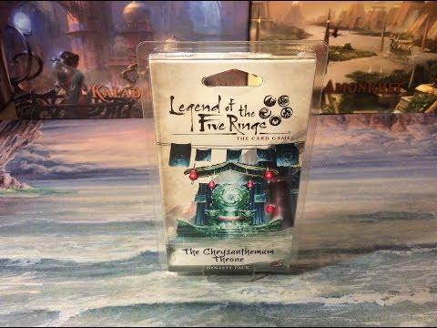 L5R: The Chrysanthemum Throne Dynasty Pack Opening!