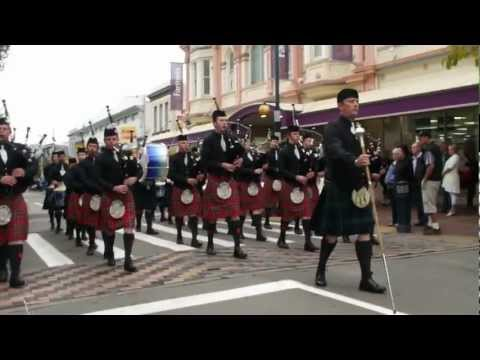 ILT City of Invercargill Highland Pipe Band - Winning, and Innovative, Street March - Timaru 2013