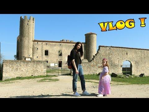 VLOG - Ellie se déguise en princesse Raiponce pour visiter un VRAI chateau fort ! Outdoor