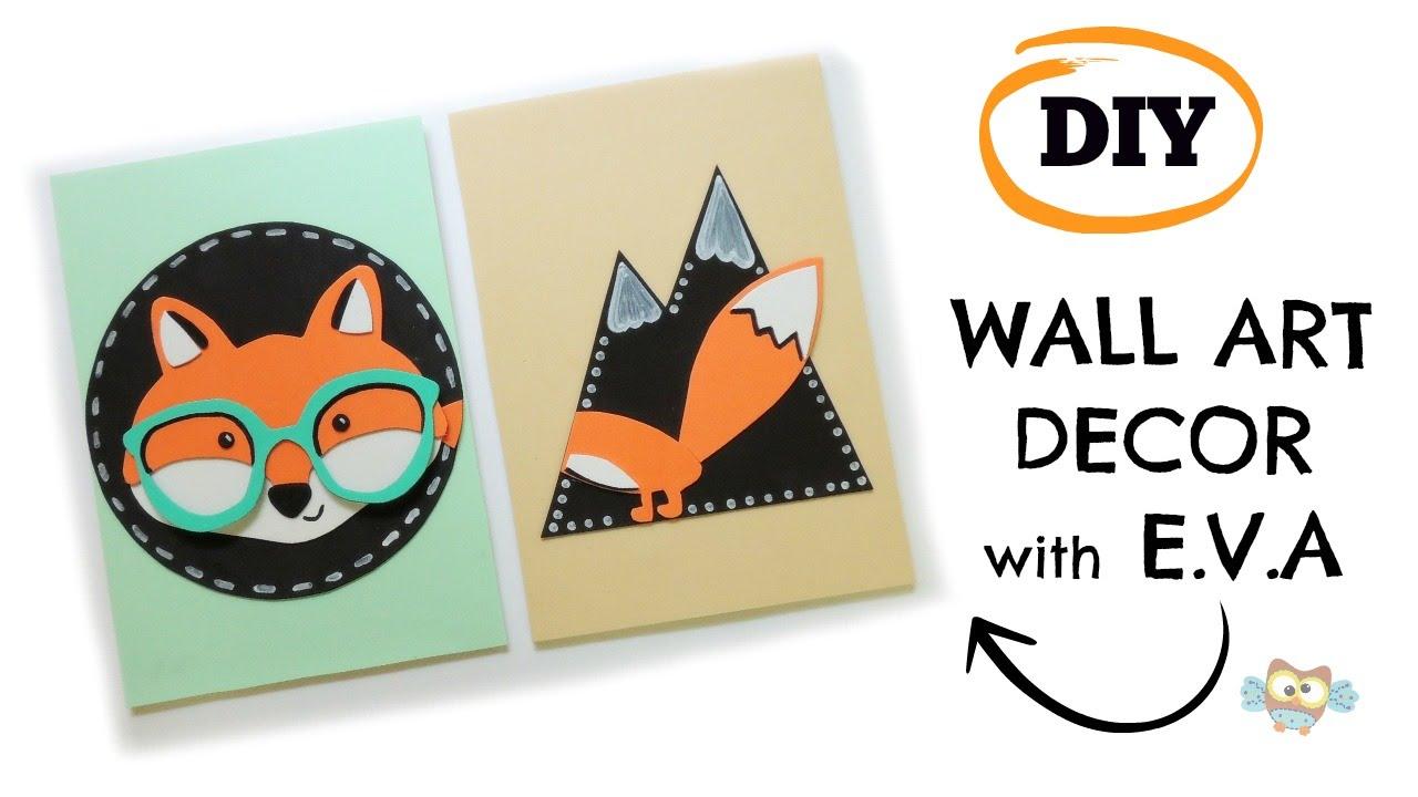 Diy Wall Art Decor Fox Nursery Or Kids Room Nordic Style You