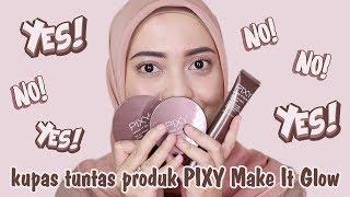 PIXY Make It Glow Series | Beauty Skin Primer / Dewy Cushion / Silky Powdery Cake | #makeupbyNia #19