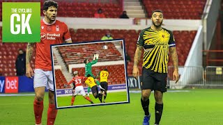 Troy Deeney has his Shirt RIPPED At Nottingham Forest! | Away Days | Ben Foster - TheCyclingGK