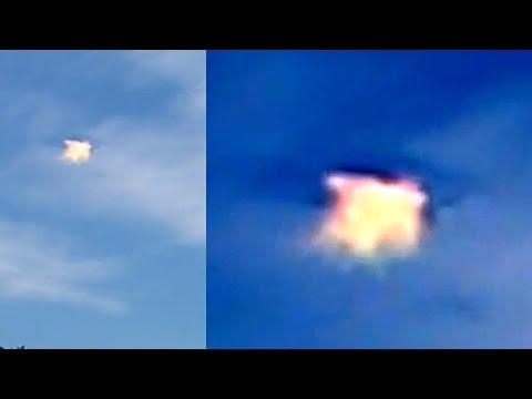 UFO Sightings [WORMHOLE] Over California! UFO Aftermath Captured? Enhanced Video 2015
