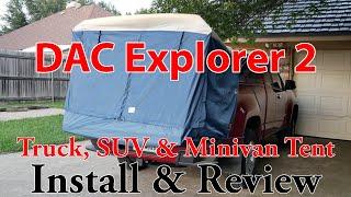 Truck, SUV & Minivan Tent: DAC Explorer 2 Install & Review - 4k UHD