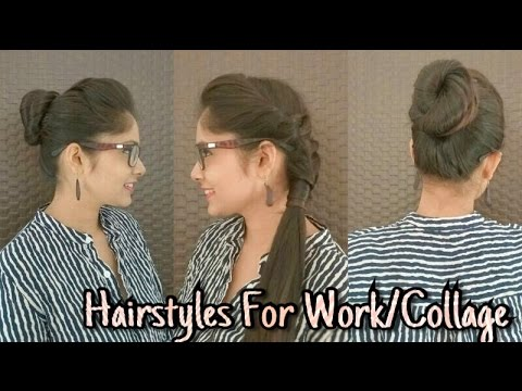 Everyday Quickeasy Hairstyles For Schoolcollage And Work Diy