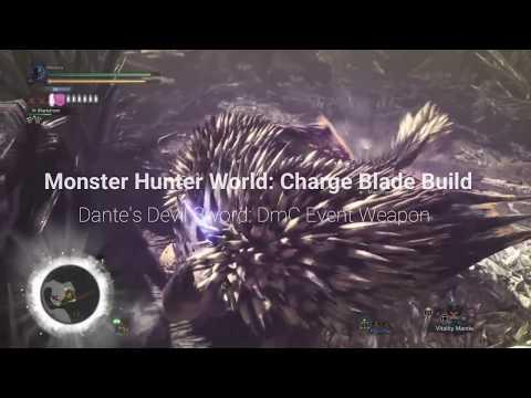 Monster Hunter World :DmC Event Weapon Dante's Devil Sword Build