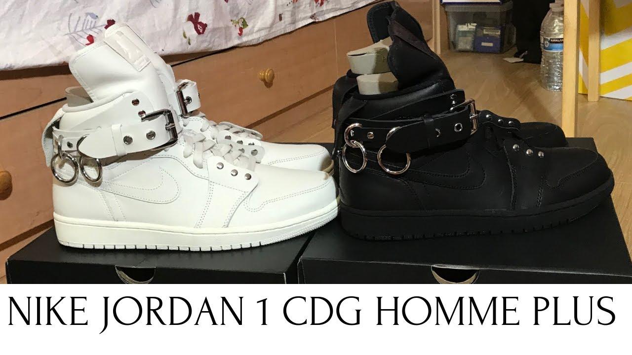 huge selection of ce2cc 62699 Nike Jordan 1 CDG Comme Des garcons review & on feet
