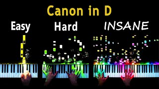 5 Levels of Canon in D - Easy to Insane