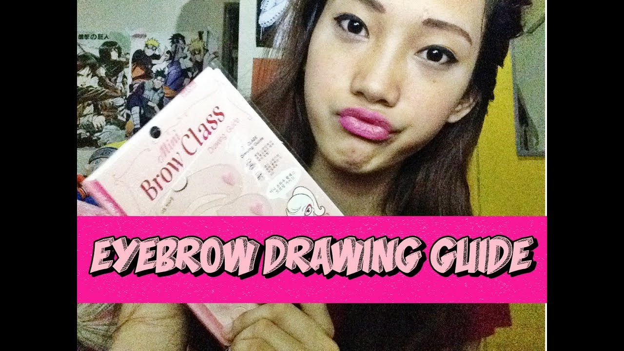 Eyebrow Tutorial Drawing Guide Etude House Youtube Set