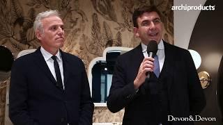 CERSAIE 2019 | DEVON&DEVON - Massimo Iosa Ghini e Graziano Verdi presentano il lavabo Kalos