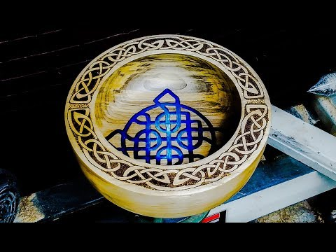 Woodturning a Celtic Knot Bowl