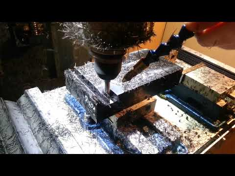 Frästest POM - Wintermill VMC 420 [diy epoxy granite cnc mill]