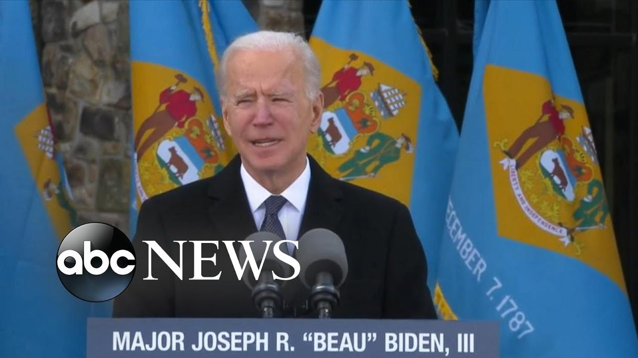 President-elect Joe Biden delivers remarks ahead of departure to Washington