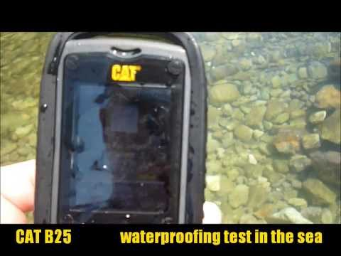 CAT B25 waterproofing test in the sea / vízállóság próba a tengerben