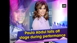 Paula Abdul falls off stage during performance - #Entertainment News