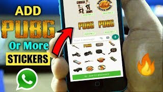 How To Add PUBG or More New Stickers on Whatsapp | PUBG Stickers on Whatsapp | Aditya Knight