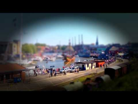 Bristol Harbour Fest tilt shift lens effect 2012