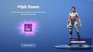 """THE SKIN OF THE PARAMEDIC HEADHUNTER, THE """"FIELD SURGEON"""" WON A STYLE WITHOUT A HELMET! Fortnite"""