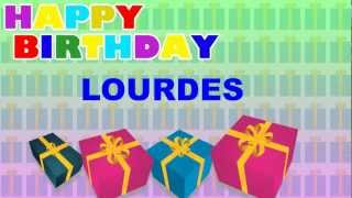 Lourdes - Card Tarjeta - Happy Birthday
