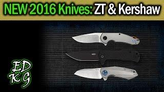 New 2016 Knives: ZT & Kershaw (KAI USA - Zero Tolerance - Shot Show))