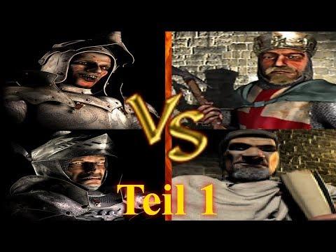 Ratte, Wolf vs Richard, Friedrich - Teil 1 | Stronghold Crusader KI Kämpfe