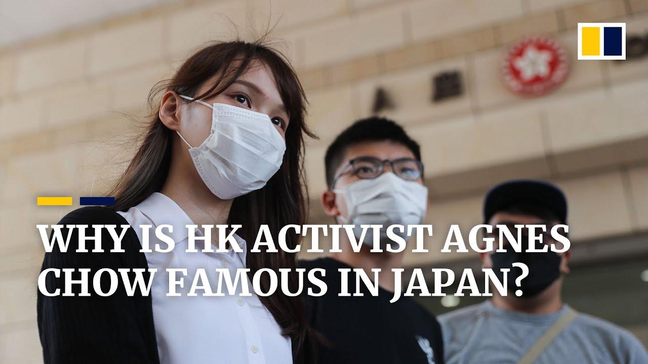 Why is Hong Kong activist Agnes Chow so popular in Japan?