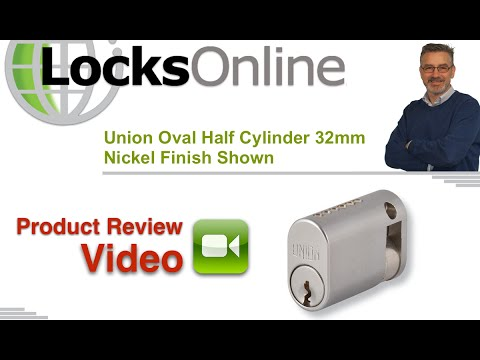 Union Oval Half Cylinder 32mm Nickel Finish Shown   LocksOnline Product Reviews