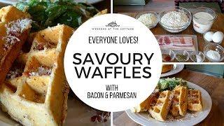 Amazing SAVOURY WAFFLES with BACON & PARMESAN