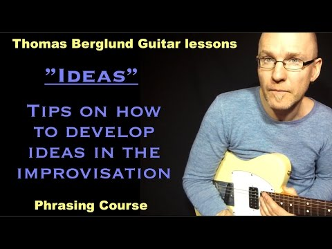 Soloing ideas (develop ideas in the soloing) / Phrasing course // Guitar lesson