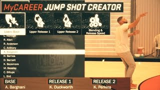 nba 2k17 using the jumpshot creator to create the ugliest jumpshots possible ugly shot challenge