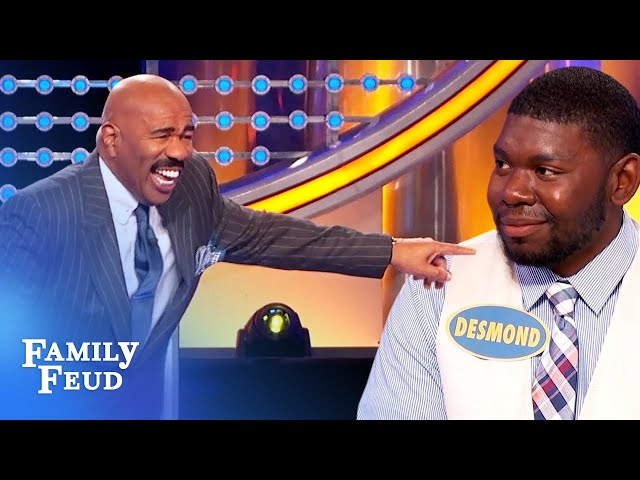 Desmond DESTROYS Steve Harvey! | Family Feud