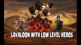 CRAZY LAVALOON STRATEGY LEGEND TROPHY PUSH 3 STAR RAID TH11 WITHOUT MAXED HEROS | CLASH OF CLANS