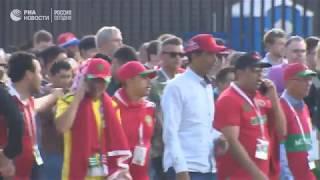 Болельщики покидают стадион