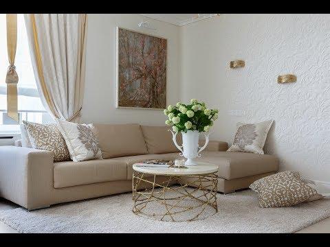 Светлый интерьер гостиной комнаты (фото примеры)