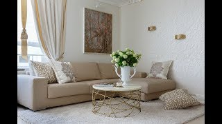 видео Дизайн гостиной в светлых тонах (фото), современное оформление интерьега гостиной в светлых цветах
