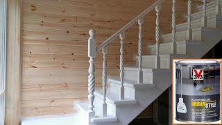Покраска лестницы. Лучший паркетный лак. Экономия 30000 рублей cмотреть видео онлайн бесплатно в высоком качестве - HDVIDEO