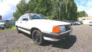 Такие авто уже не делают!  1988 audi 100 (C3) 1.8L (90) полный обзор!
