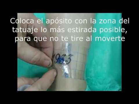 04 Cuidado Del Tatuaje Con Apósito Film Curativo 2016 Youtube