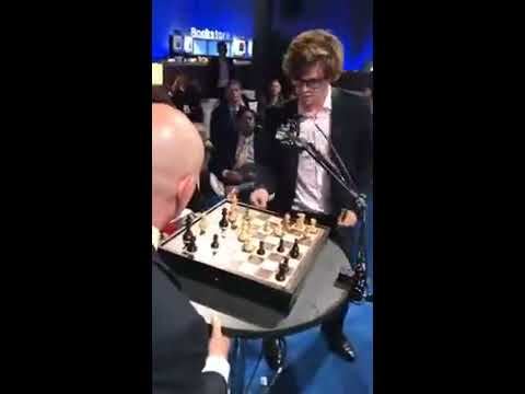 Magnus Carlsen live at Milken Institute Global Conference in a Blitz match hosted by WorldQuant2017