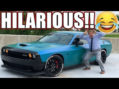 I LET MY ACCOUNTANT DRIVE MY HELLCAT & HE LOST HIS MIND!! PRICELESS REACTIONS 🤣🤣