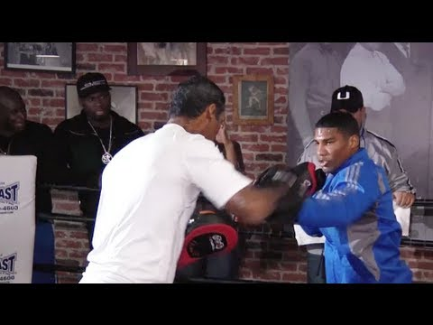 50 Cent Watches Yuriorkis Gamboa's Pre-Fight Workout (20min)