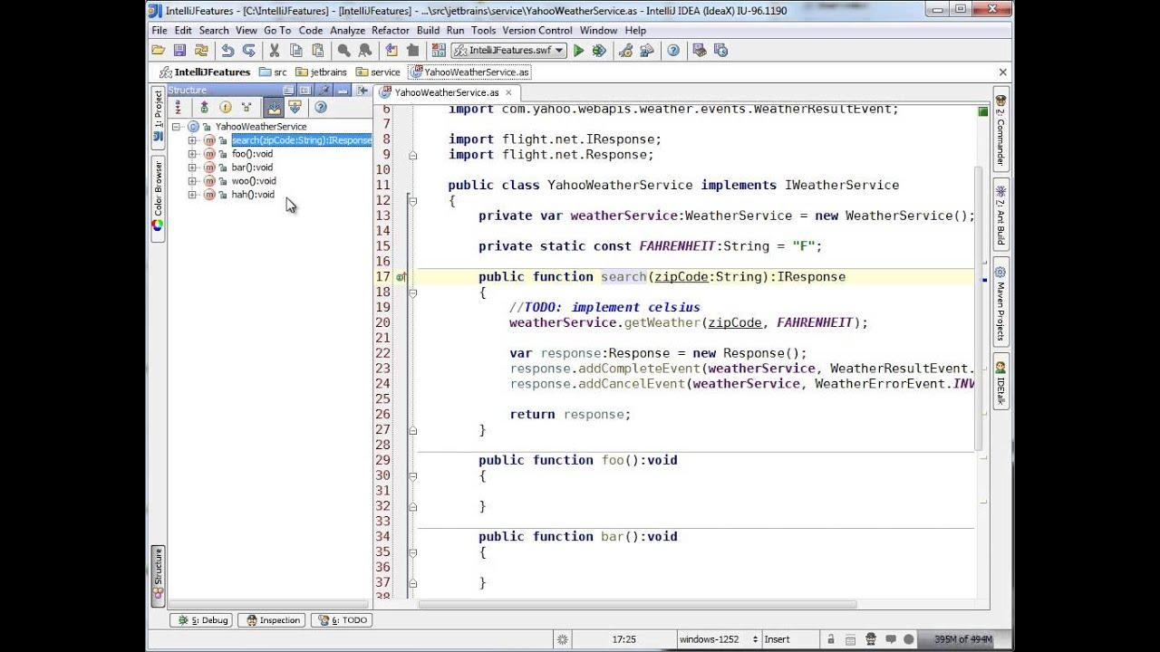 Structure Window (IntelliJ IDEA)