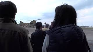 2017年 陸上自衛隊明野駐屯地 CH-47 チヌーク 体験飛行.