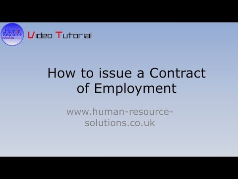 How to issue a Contract of Employment