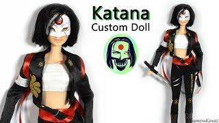 katana suicide squad barbie doll repaint tutorial