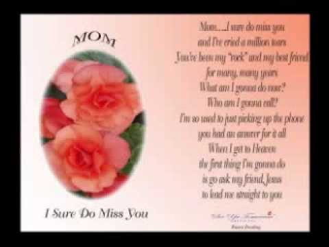 Tribute to mothers death