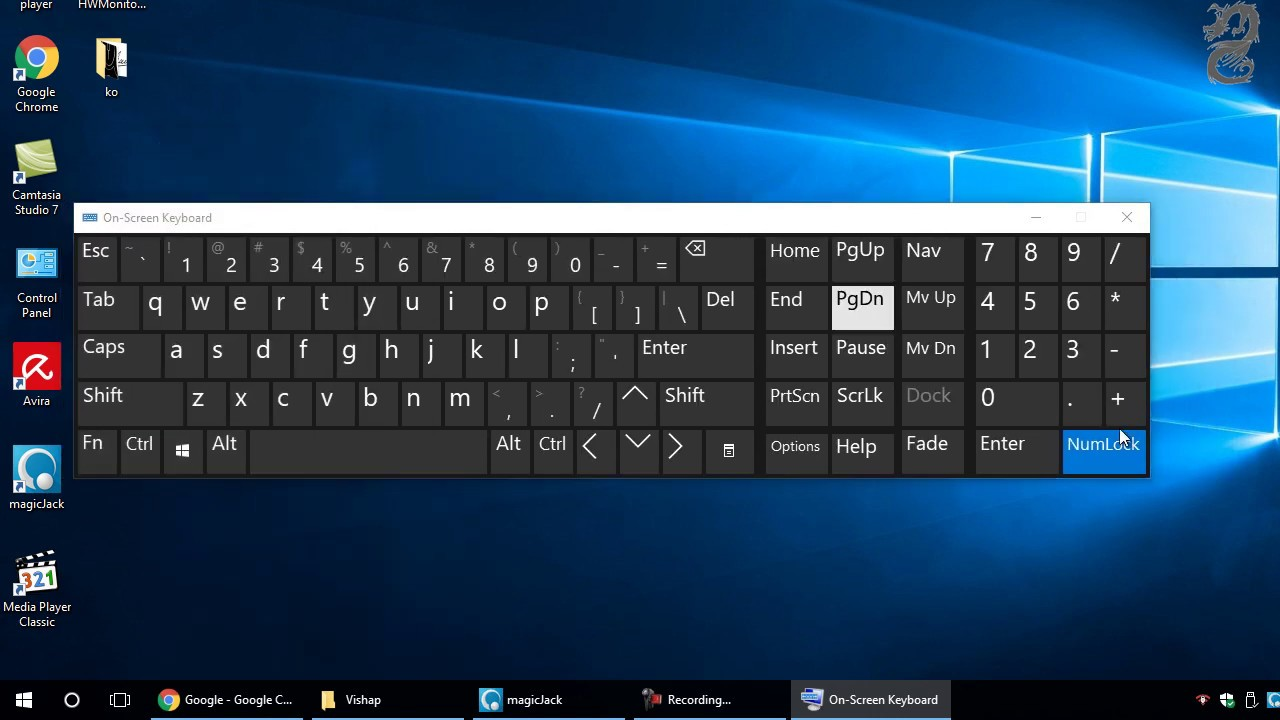 How To Turn On Or Off Num Lock In Laptops Using Windows 10 Youtube